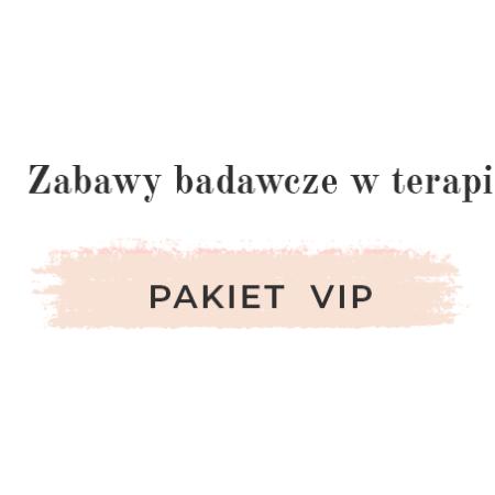 Zabawy badawcze w terapii – pakiet VIP